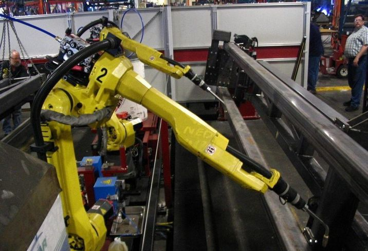 Robot manufacturing factory