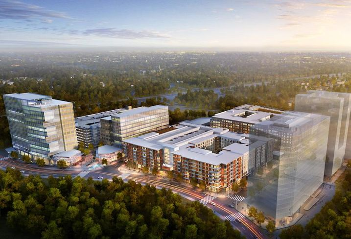 Rendering of Howard Hughes' Downtown Columbia development