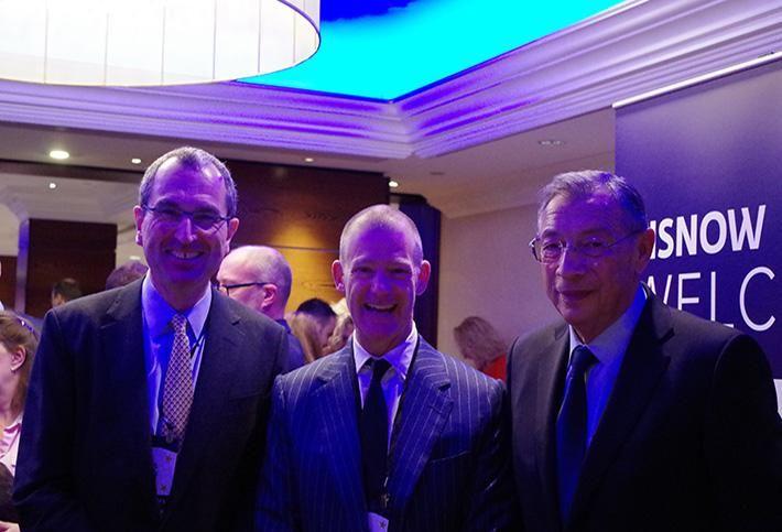Chris Grigg, Tony Gibbon and Sir George Iaocobescu