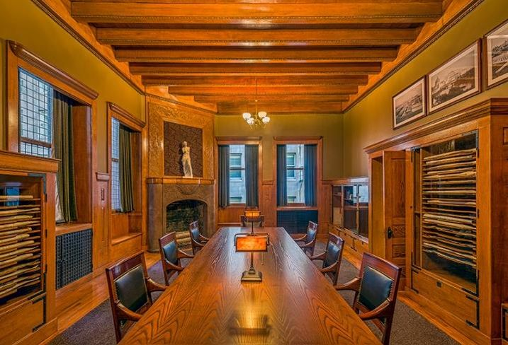 The executive boardroom at the Rookery building, Chicago