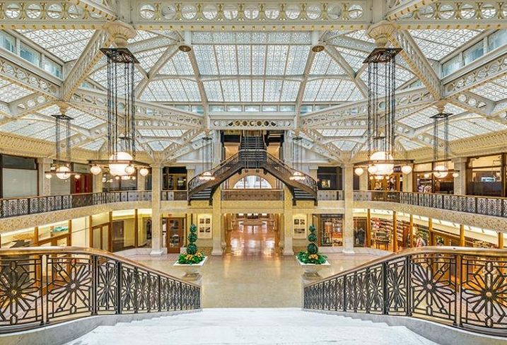 The light court at the Rookery building, Chicago
