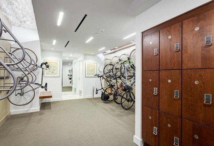 The new bike room at The Rookery, Chicago