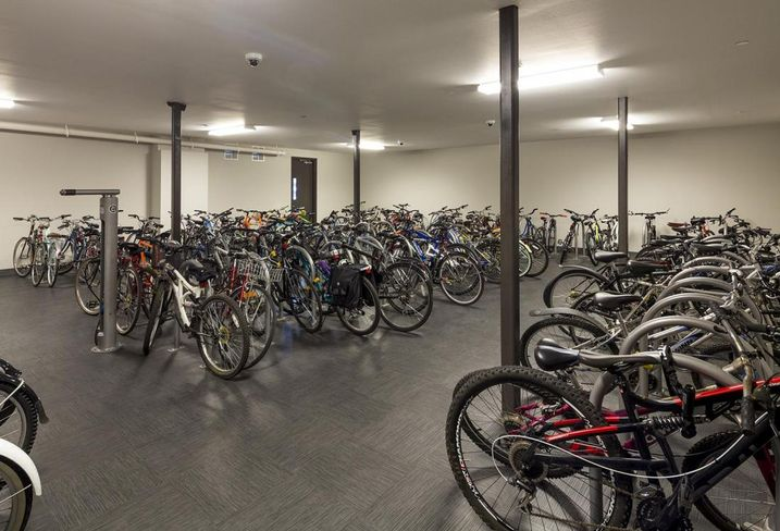Bicycles are the main mode of transport for students living at 2125 Franklin at the University of Oregon.