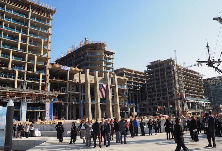The Wharf construction
