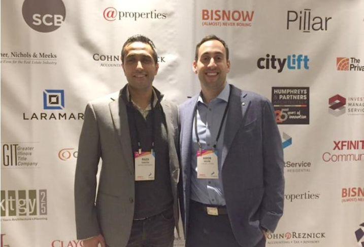 Akara Partners CEO Rajen Shastri and Luxury Living Chicago managing broker Aaron Galvin