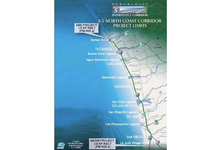 $700M I-5 North Coast Corridor Highway Project Underway