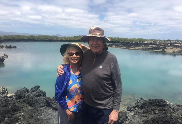 Roy Reel and his wife, Patricia, in the Galapagos Islands