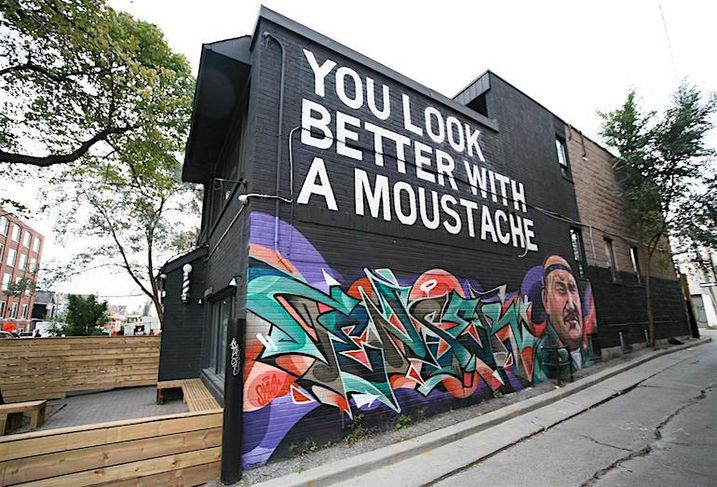 Exterior of Movember Foundation's new office at 588 Richmond St W