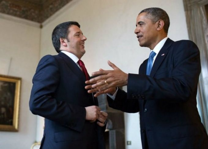 Matteo Renzi, Barrack Obama