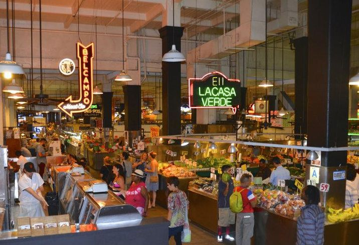 Los Angeles Grand Central Market, food hall