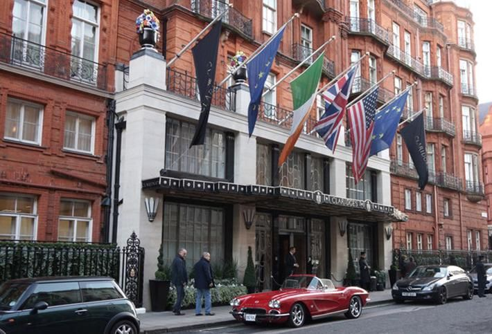 Five-Star Claridge's Hotel in London's Mayfair