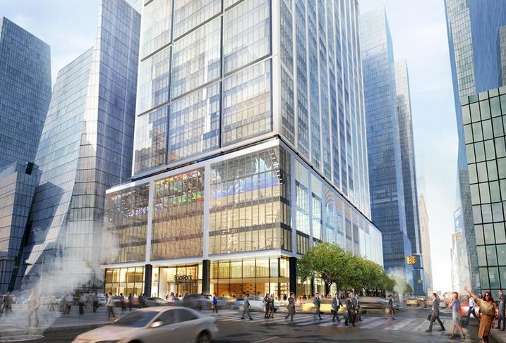 Rendering 50 Hudson Yards, the 2.9M SF future headquarters of BlackRock in Manhattan