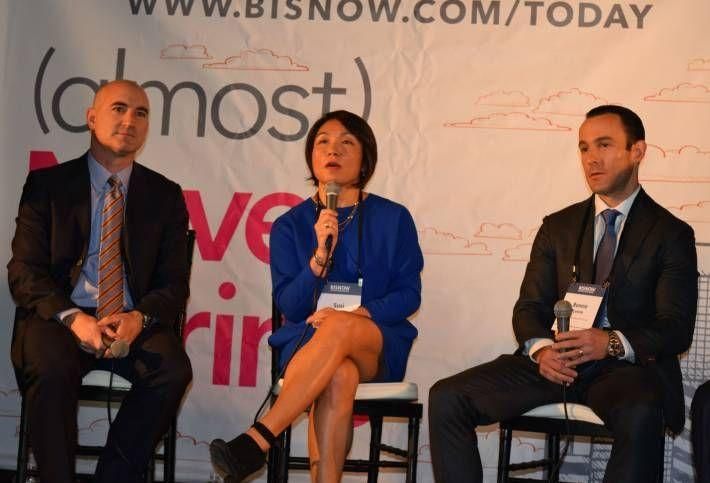 Hudson Cos principal David Kramer, Forest City Ratner EVP Susi Yu and Meridian Capital Group's Ronnie Levine