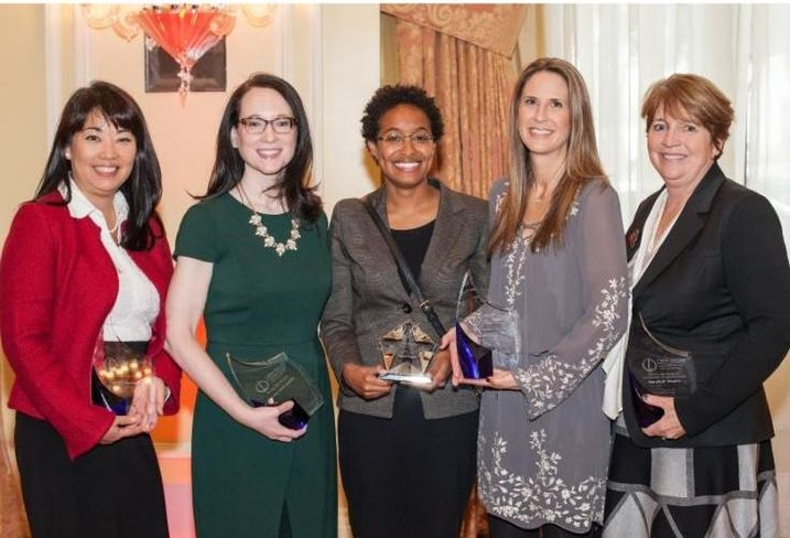 The 2016 CREW Dallas Award Winners are as follows. KeyBank Real Estate Capital's Lynn Drummond won the Chapter Service award. AECOM's Courtney Emich Spellicy won the Rising Star award. Walter P. Moore's Nicole Hayes won the Outstanding New Member award. KDC's Tracie Gaber Frazier won the President's award. Republic Title Commercial's MaryBeth Kelley Shapiro won the CREW in the Community Philanthropic Excellence award.