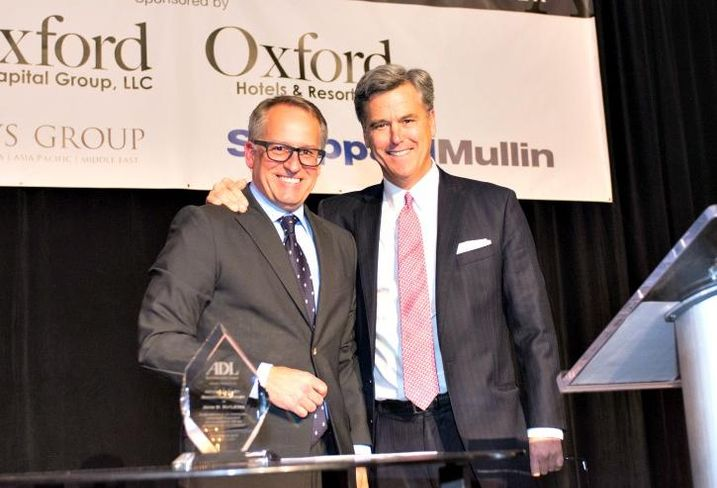 Sheppard Mullin Chicago managing partner Larry Eppley (left) and Oxford Capital CEO John Rutledge