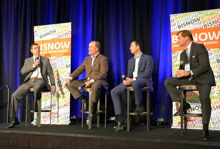 CohnReznick partner Mike Celkis, Cousins Properties SVP Tim Hendricks, Cielo founding principals Rob Gandy, Brandywine EVP Bill Redd