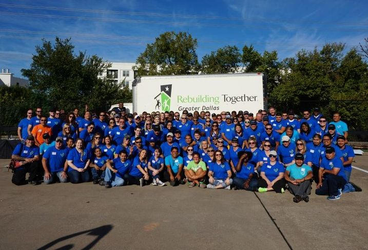 Camden employees volunteered through Rebuilding Together Greater Dallas' Operation Freedom program to repair five homes owned by veterans in Dallas.  This project included exterior painting, installing motion lights, landscaping, cleanup and more. Here's the Camden Cares after volunteering last month.