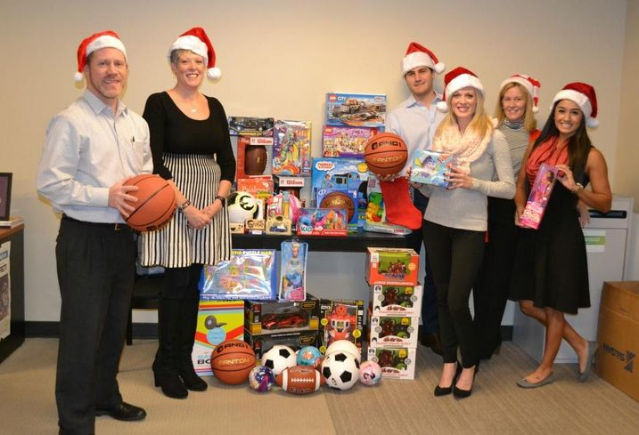 Younger Partners donated toys for Community Partners of Dallas, which provides resources for abused and neglected children served by Dallas County Child Protective Services. Here's Younger Partners' Carter Crow, Autumn Stallings, Anthony Chammah, Lacey Queen, Felecia Miskell and Britnai Stegall.