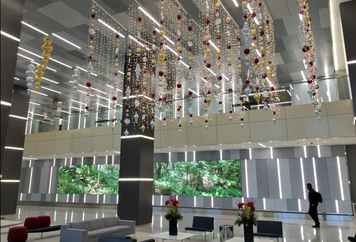 The lobby at One Prudential Plaza, Chicago