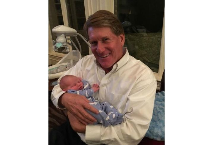 Greg Cannon with grandson