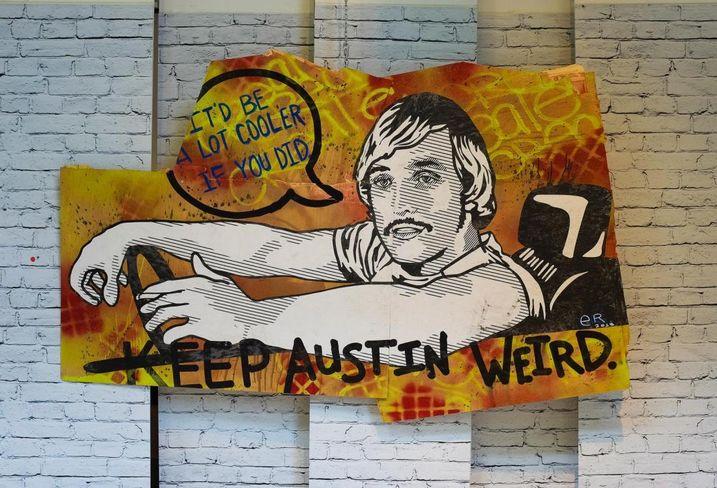 Keep austin weird; matthew mcconaughey