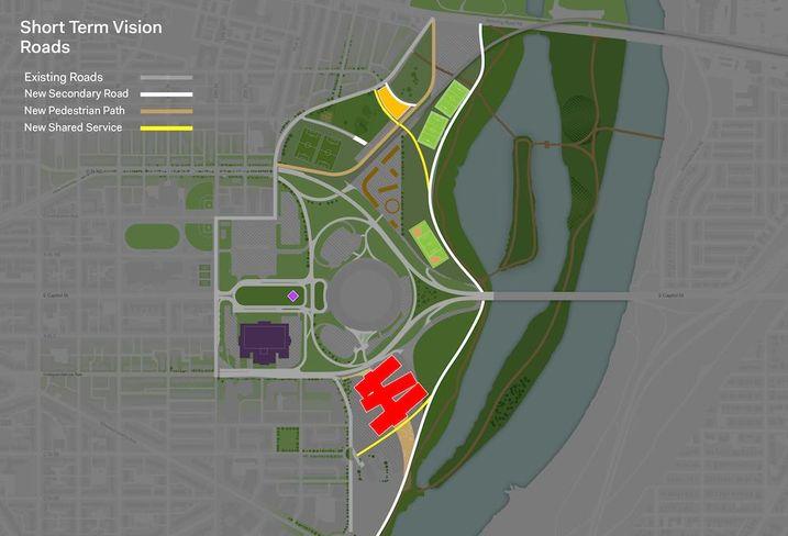 RFK Site proposal Short Term Roads