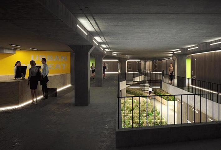 Ian Chalk Architect's Subterranean Hotel