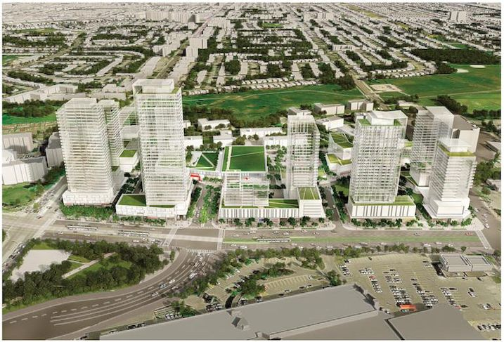 A rendering of the Golden Mile redevelopment