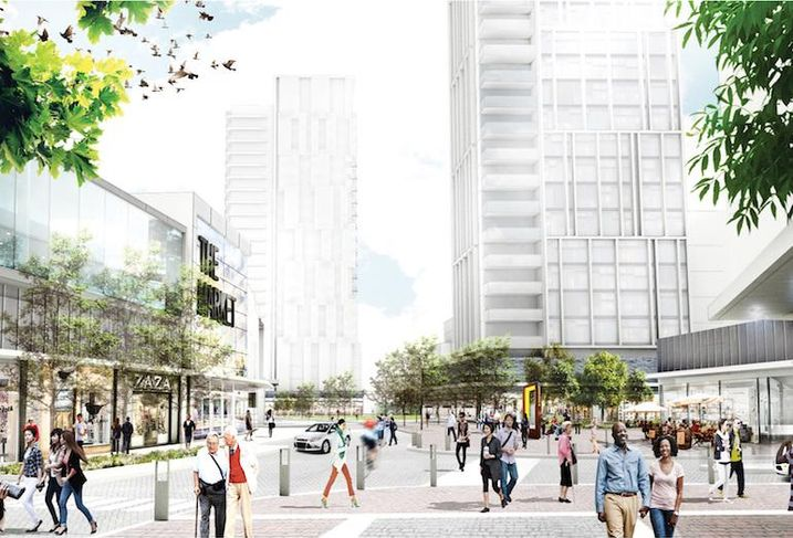 A rendering of the Golden Mile redevelopment.