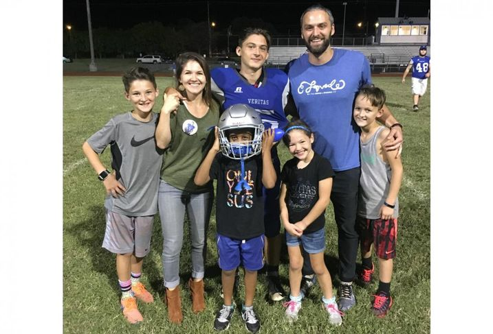 Adam Zimel with family