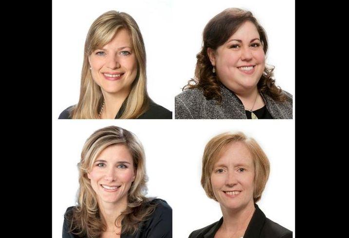 MB Real Estate's Suzanne Hendricks, Krysta Bavlsik, Eileen Flynn, and Karoline Eigel (clockwise from top left)