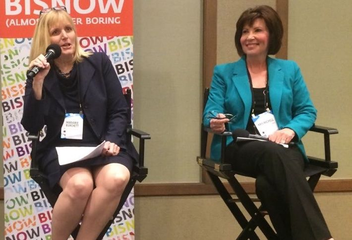 Majorie Burchett and Kris Michell at Bisnow Urbanization & Future of Downtown event.