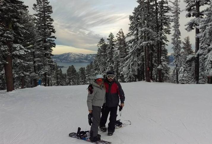 Bryan Schellinger in Tahoe (with sister Dana), Marcus & Millichap