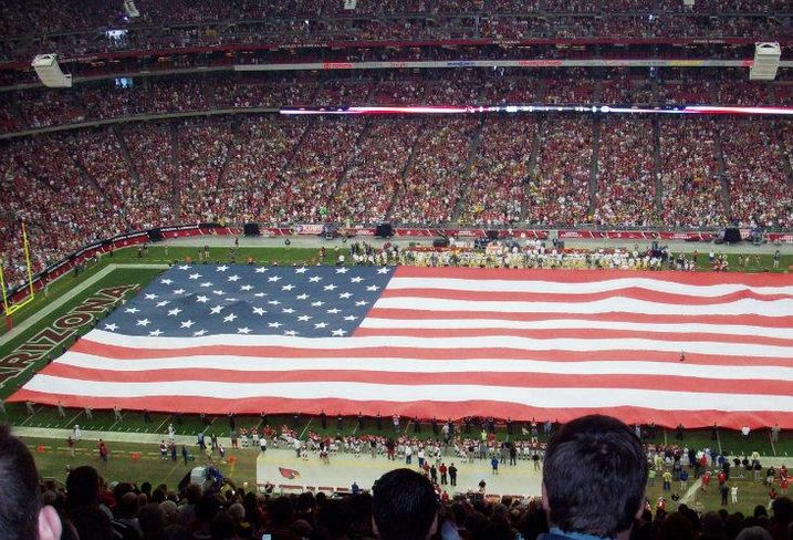 NFL stadium, flag