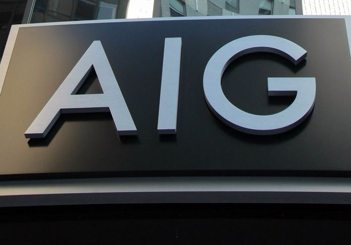 AIG New york headquarters signage