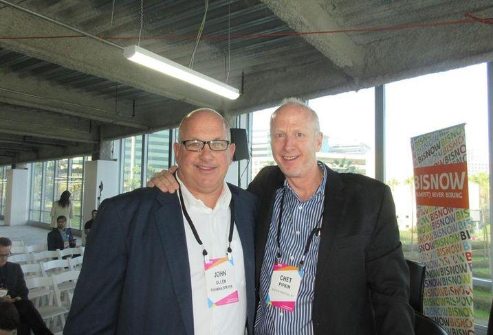 Belkin CEO Chet Pipkin and Tishman Speyer Managing Director John Ollen