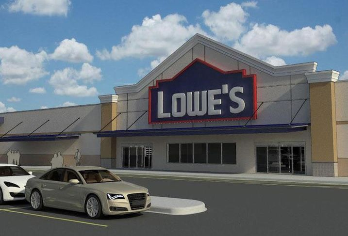 A rendering of a new Lowe's location in Sault Ste. Marie, ON.