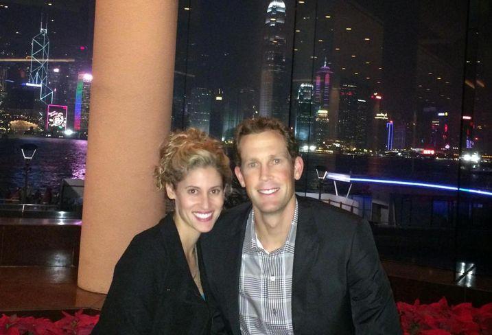 John Drachman and his wife in Hong Kong