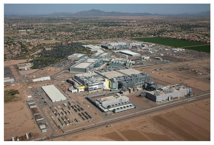 Intel's Fab 42 plant in Chandler, Ariz.