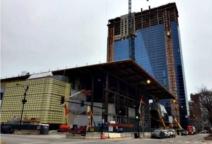Wintrust Arena and the Marriott Marquis McCormick Place, Chicago