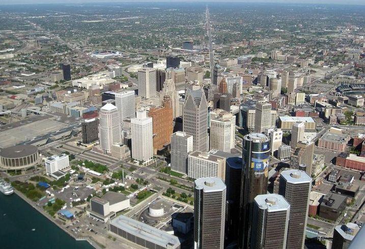 Detroit downtown, skyline