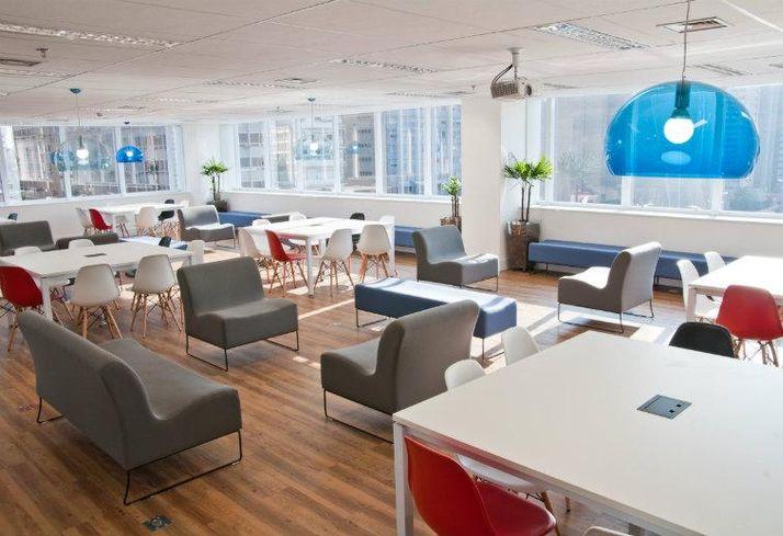 Open office, co-working, open-plan, offices