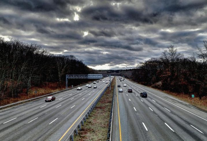 Traffic along Route 128,