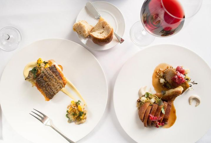 Dishes at Barbara Lynch's Famed No. 9 Park Restaurant in Boston