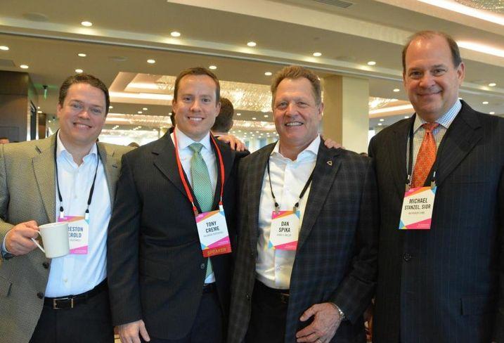 Hunt Southwest VP Preston Herold, Tony Creme, Henry S. Miller's Dan Spika and NAI Robert Lynn's Michael Stanzel