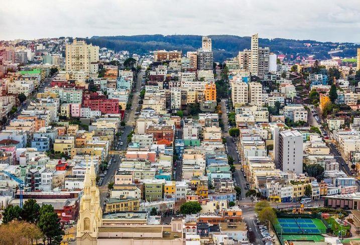 San francisco urban cityscape