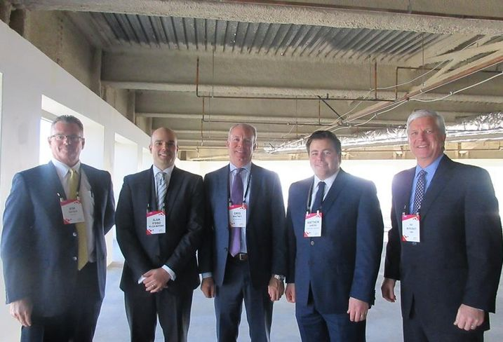 L.A. State of the Market event Prologis president of the Southwest region Kim Snyder, Allen Matkins partner Alain R'bibo, Wilson Meany director of development/retail Greg Whitney, Rising Realty Partners senior vice president Matthew Ahrens, CBRE managing director Patrick McRoskey
