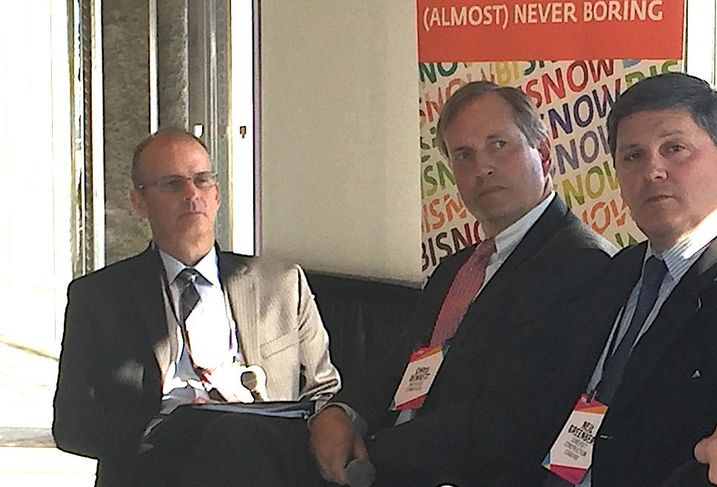 Todd Brown, Chris Bennett and Neil Greenberg at Bisnow's Howard County Boom