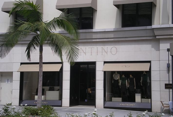 Valentino store on Rodeo Drive, Los Angeles
