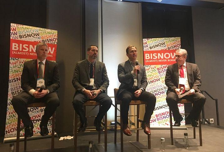 KeyBank SVP Charlie Williams, Sagebrush CIO Ken Cope, Walker & Dunlop SVP Ralph Lowen and Ascent Multifamily Accounting partner Mike Ballard, who moderated